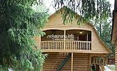 Двоповерхові дерев яні котеджі кафе