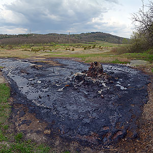 "Mud ""volcano"" near Starunya village"