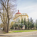 The Roman Catholic Church of Christ the King (1925-1936) with the only one in Ivano-Frankivsk region working pipe organ, nowadays there is the Greek Catholic Church of the Nativity of the Blessed Virgin Mary, Vovchynetska St. 92