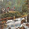 Водоспад на р. Жонка, околиці м. Яремче (листівка, зображення з сайту <a href=&quot;http://artkolo.org&quot;>artkolo.org</a>)