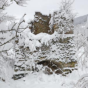 The remains of a blast furnace, Maidan village