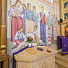 Beatified Volodymyr Pryjma relics in the Church of the Theotokos Assumption, Stradch village