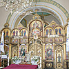 The iconostasis in the Annunciation of the Virgin Mary church