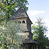 The bell tower of Sts. Cosmas and Damian church, Makhnivtsi village